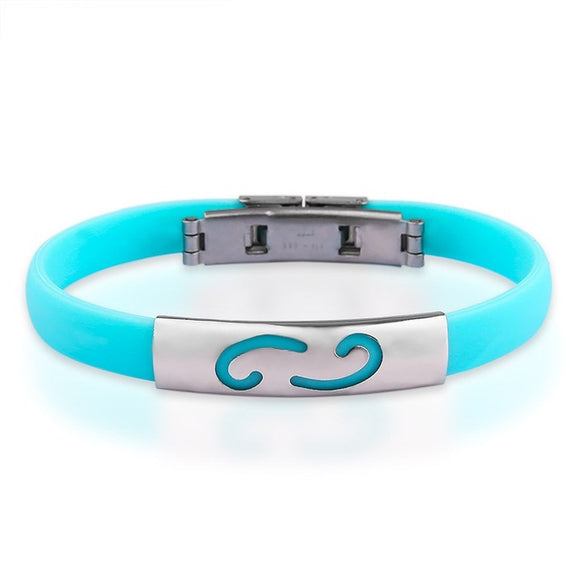 La Mia Cara Jewelry & Accessories -  Cancer - #10.7 Silicone Bracelet Astrology Signs