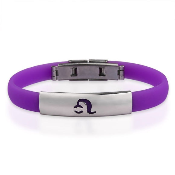 La Mia Cara Jewelry & Accessories - LEO - #10 Silicone Bracelet Astrology Signs