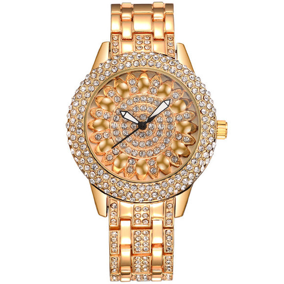 La Mia Cara Jewelry  - Baosaili  Sparkling Lotus Fashion Bracelet Watch