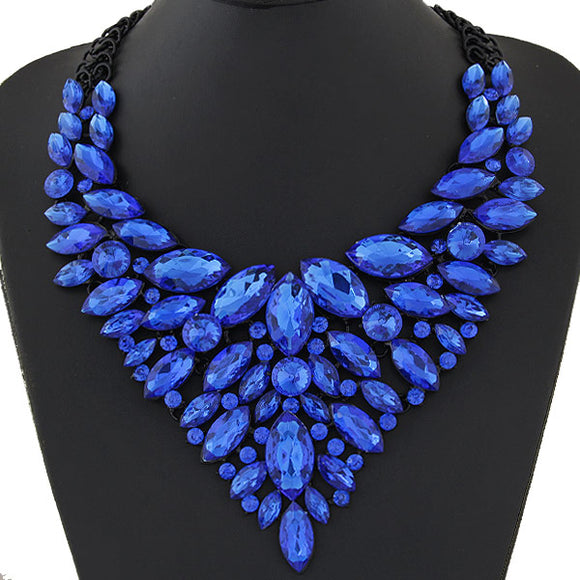 BLUE SITA DEVI 12 - MAGICAL MAHARANI JEWELS - CRYSTAL CHOKER NECKLACE