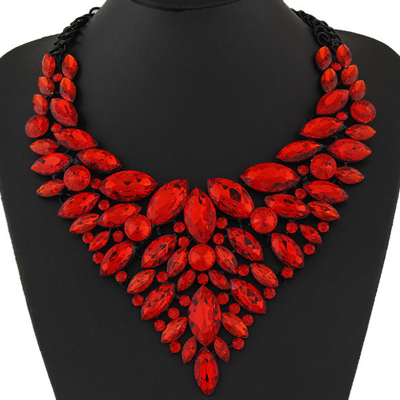 LA MIA CARA JEWELRY - RED SITA DEVI 12 - MAGICAL MAHARANI JEWELS - CRYSTAL CHOKER NECKLACE
