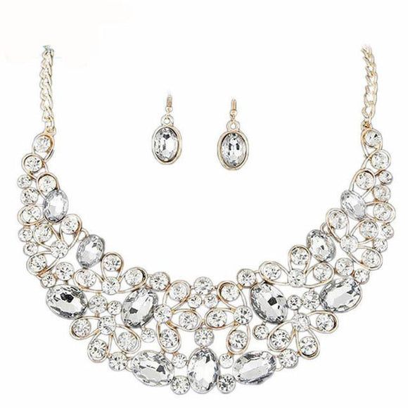 LA MIA CARA JEWELRY - SITA DEVI 10 - MAGICAL MAHARANI JEWELS - CRYSTAL NECKLACE & EARRINGS SET
