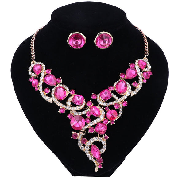 SITA DEVI 11 - MAGICAL MAHARANI JEWELS - CRYSTAL NECKLACE & EARRINGS SET