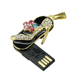 LA MIA CARA  - Amu -Crystal Stilettos Pearl Flower USB Flash Drive