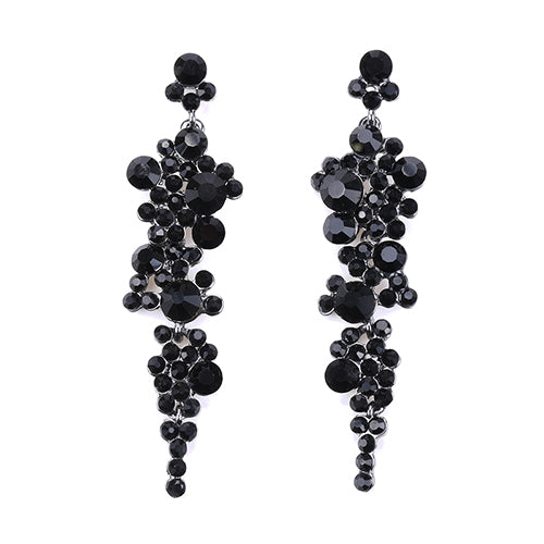 LA MIA CARA  - TAMINO - Zircon Long Earrings
