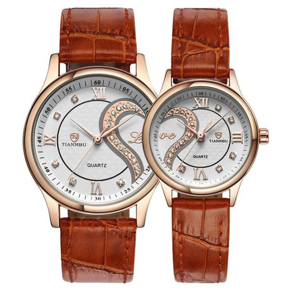 La Mia Cara Jewelry & Accessories - Spasimante - 1 Pair/2pc  Leather Romantic Fashion Couple Wrist Watches