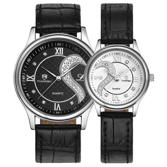 La Mia Cara Jewelry & Accessories - Spasimante Black - 1 Pair/2pc  Leather Romantic Fashion Couple Wrist Watches