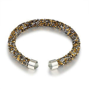 La Mia Cara Jewelry & Accessories - Fortuna - Classic Crystal Cuff Bracelet