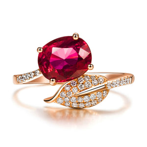 LA MIA CARA - Alecia - Red Tourmaline & Diamond Rose Gold Ring