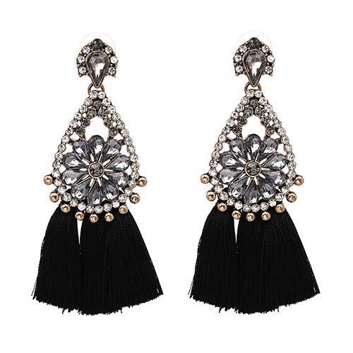 LA MIA CARA  - Gothic Sylvie - New Trendy Ethnic Bohemia Tassel Earrings