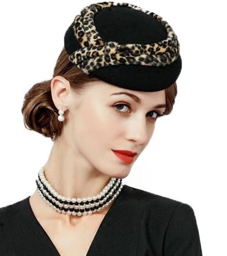 La Mia Cara  - Leopardo Nobile Signora - Elegant Lady Soft Fedora with Leopard Design