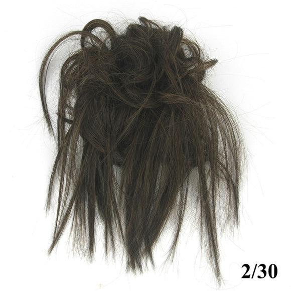 Baba Riccio -  Brown 4 Satin Curly Messy Bun Hair