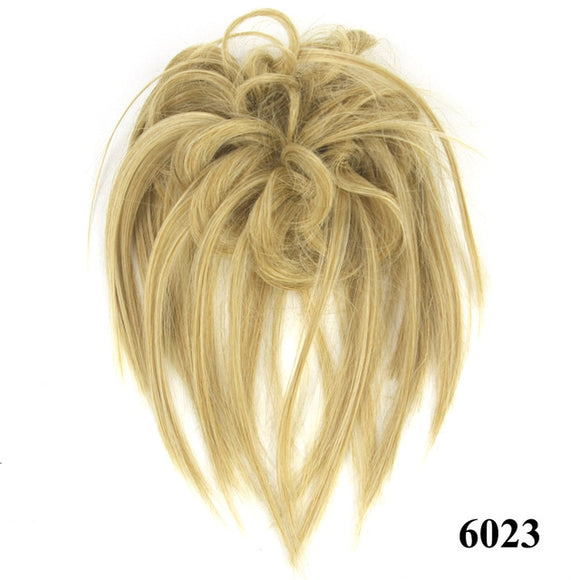 Baba Riccio - Blond 4 Satin Curly Messy Bun Hair