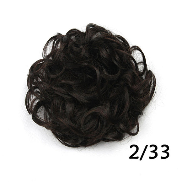 Baba Riccio - Black 2 Satin Curly Messy Bun Hair