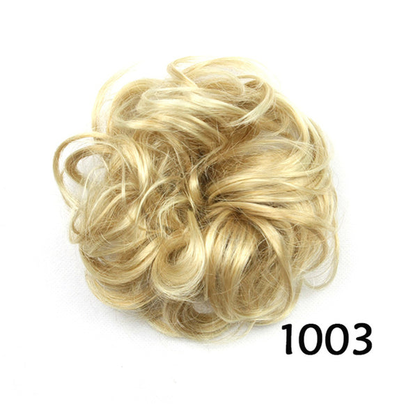 Baba Riccio - Blond 1 Satin Curly Messy Bun Hair