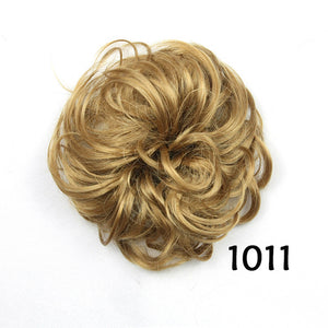 Baba Riccio - Blond 3 Satin Curly Messy Bun Hair