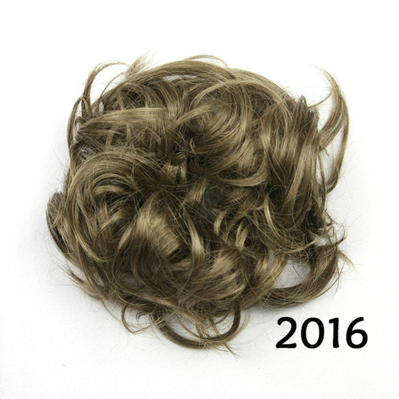 Baba Riccio -   Brown 2 Satin Curly Messy Bun Hair