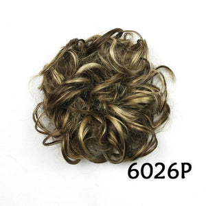 Baba Riccio -  Brown 5 Satin Curly Messy Bun Hair