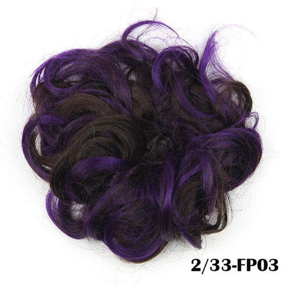 Baba Riccio -  Purple 2  Satin Curly Messy Bun Hair