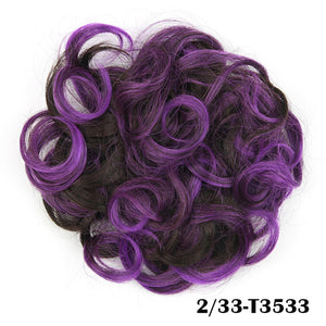 Baba Riccio -  Purple 4 Satin Curly Messy Bun Hair
