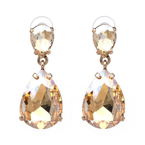 LA MIA CARA  - Clara- Classic Crystal Dangle Earrings