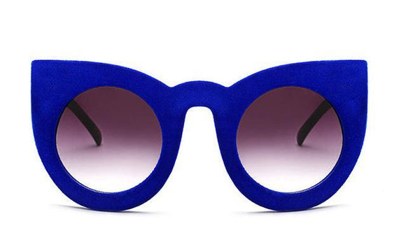 La Mia Cara - Milao Blue - Velvet Cat Eye Sunglasses UV400
