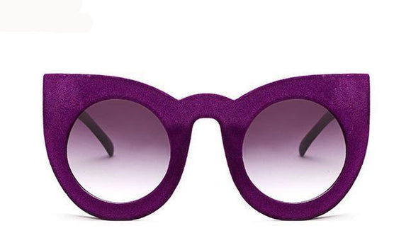La Mia Cara - Milao Purple - Velvet Cat Eye Sunglasses UV400