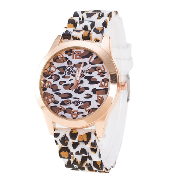 Farina - White Charming Leopard Watch