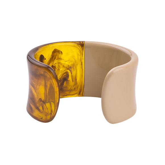 La Mia Cara Jewelry & Accessories - Iwona - Beige Color Resin Colorful Love Bangle