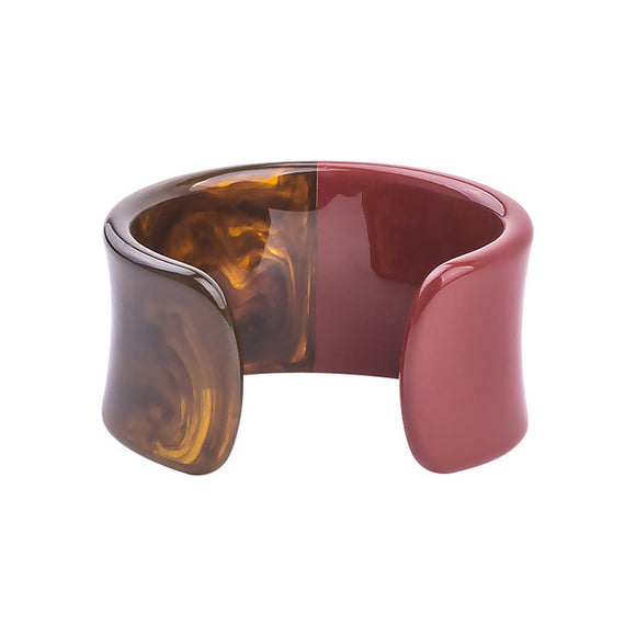 La Mia Cara Jewelry & Accessories - Iwona - Red Resin Colorful Love Bangle