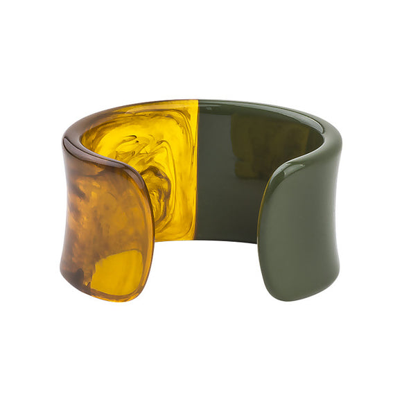 La Mia Cara Jewelry & Accessories - Iwona - Green Resin Colorful Love Bangle