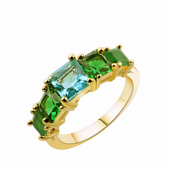 La Mia Cara Jewelry - Verdura - Paved Green Zircon Cocktail Ring