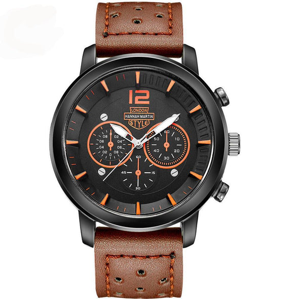 La Mia Cara Jewelry  - City Wilderness - Genuine Leather Sports Watches for Men