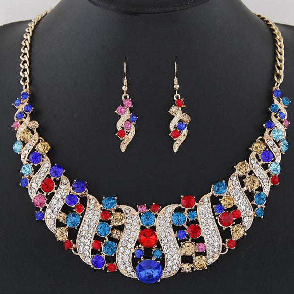 LA MIA CARA JEWELRY - Emilie - Crystal Chocker Costume Jewelry Set