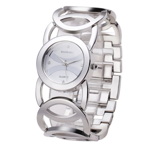 La Mia Cara Jewelry - Sciccoso Silver White - Circles Strap Stainless Steel Ladies Watch