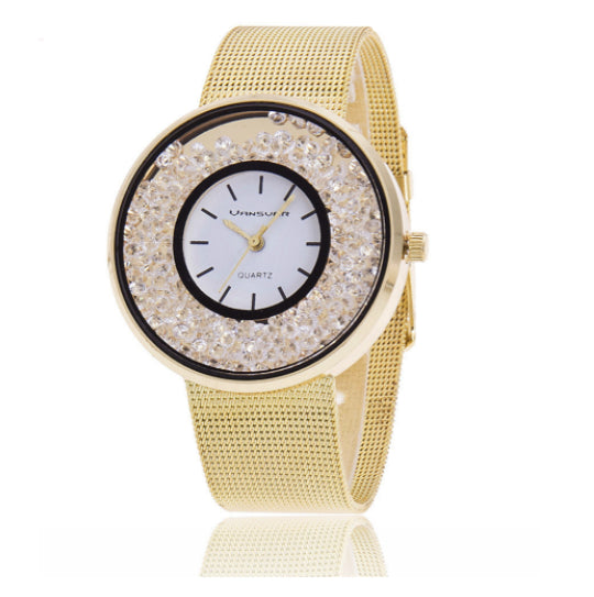 La Mia Cara Jewelry - Chira Gold- Luxury Quartz Watch with Mesh Band