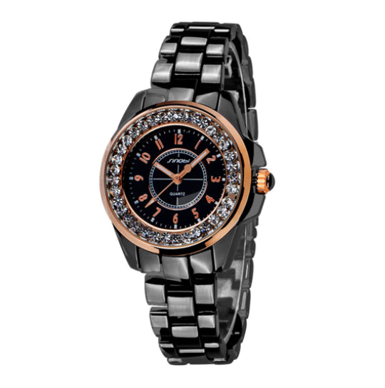 La Mia Cara Jewelry - Neve Bianca Black - Bling Diamonds Luxury Ceramic Watch