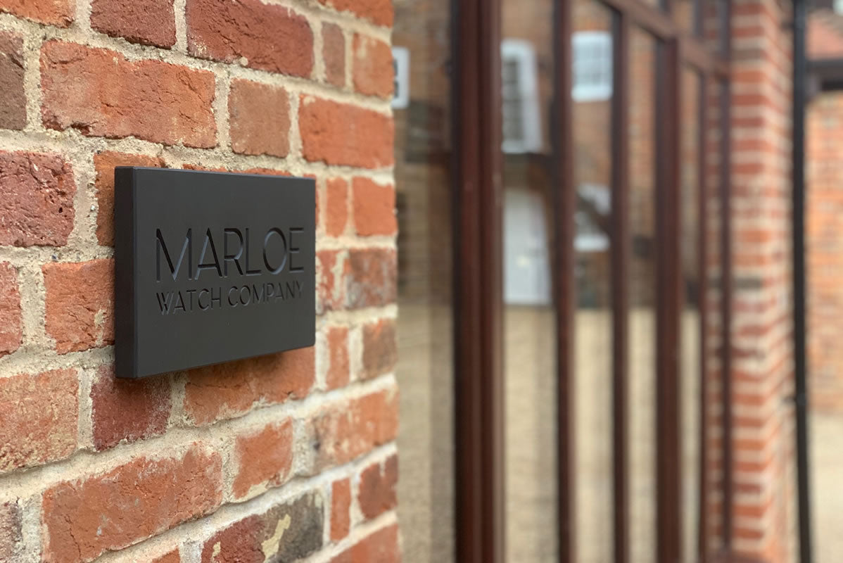 Marloe Watch Company sign