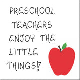 Gift for Pre School Teacher - Magnet Quote,  Pre-K, nursery school educators, red apple design