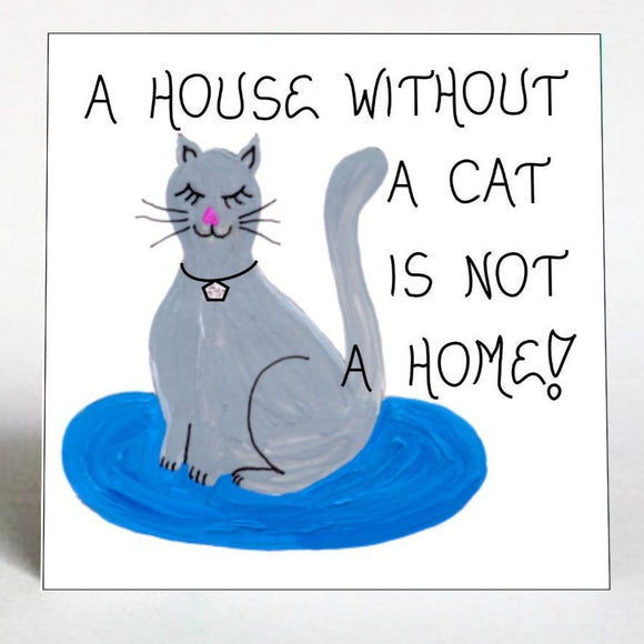 Gift for Cat Person - Fridge Magnet