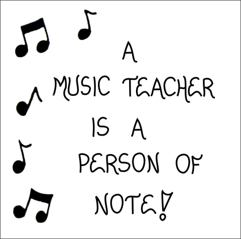 Music Teacher Quote Magnet