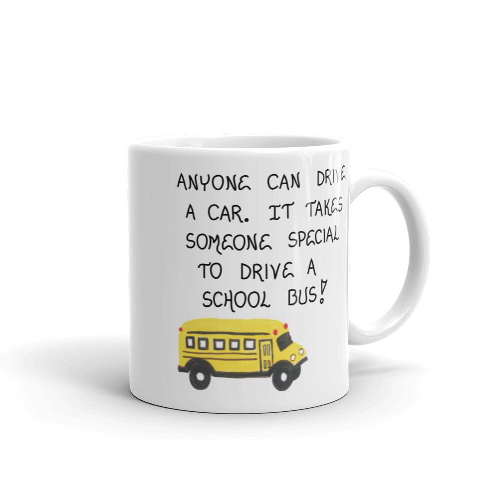 bus driver gift mug thank you gift for holiday or end of school