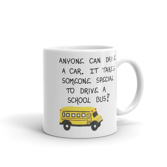 bus driver gift quote mug.  Thank you to your child's bus driver.