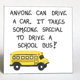 Bus driver gift magnet - Thank you to the busdriver!