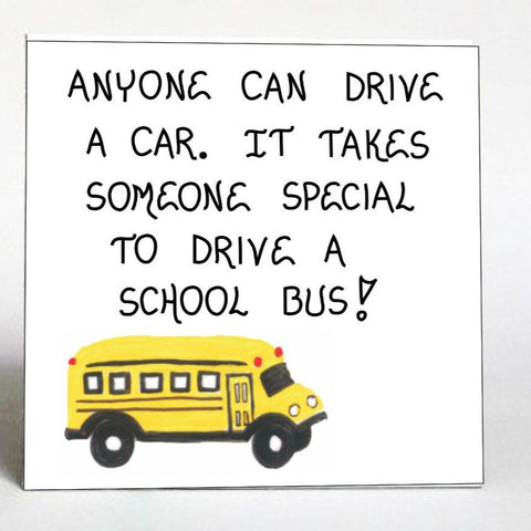 gift for bus driver, refrigerator magnet, holiday gift