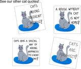Assortment of Cat Quote Magnets