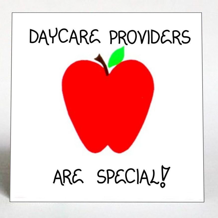 Daycare Provider Magnet - Day care teacher -Message of thanks for childcare.