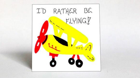 Quote about Pilots - Flying planes, aviator saying. Loves airplanes.  Yellow plane