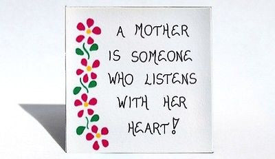 Magnet for Mother - Quote about mom, pink cascading flowers