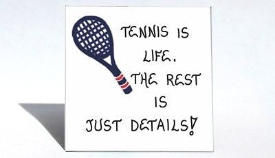 Quote about tennis, playing game, players. racquet, court